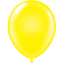 "5"" Tuf-Tex Standard Yellow Latex Decorator Balloon - 50-Pack"