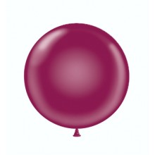"24"" Tuf-Tex Crystal Burgundy Decorator Balloons - 25-Pack"