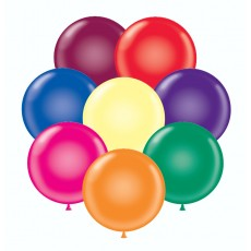 "17"" Tuf-Tex Crystal Assortment Decorator Balloons - 50-Pack"