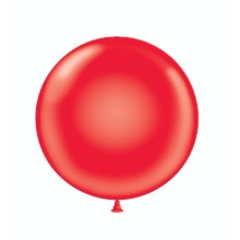 "24"" Tuf-Tex Crystal Red Decorator Balloons - 25-Pack"