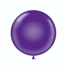 "17"" Tuf-Tex Crystal Purple Decorator Balloons - 50-Pack"