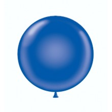 "17"" Tuf-Tex Crystal Sapphire Blue Decorator Balloons - 50-Pack"