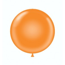 "17"" Tuf-Tex Crystal Tangerine Decorator Balloons - 50-Pack"