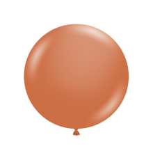 "24"" Tuf-Tex Naturals Pastel Burnt Orange Decorator Balloons - 25-Pack"