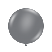 "17"" Tuf-Tex Pastel Grey Smoke Decorator Balloons - 50-Pack"
