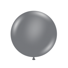 """17"""" Tuf-Tex Pastel Grey Smoke Decorator Balloons - 50-Pack - SOLD OUT - More Stock Expected Early May"""