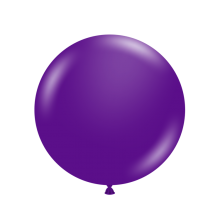 "17"" Tuf-Tex Pastel Plum Purple Decorator Balloons - 50-Pack"