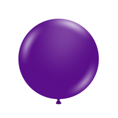 "24"" Tuf-Tex Pastel Plum Purple Decorator Balloons - 25-Pack"