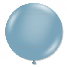 "17"" Tuf-Tex Naturals Pastel Blue Slate Decorator Balloons - 50-Pack"