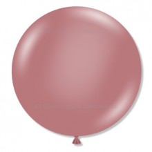 "24"" Tuf-Tex Naturals Pastel Canyon Rose Decorator Balloons - 25-Pack"