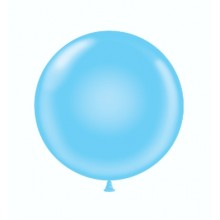 "24"" Tuf-Tex Pastel Baby Blue Decorator Balloons - 25-Pack"