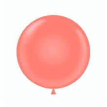 "17"" Tuf-Tex Pastel Coral Decorator Balloons - 50-Pack"