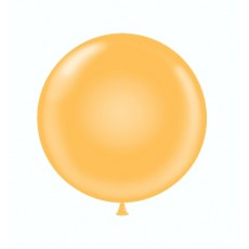 "17"" Tuf-Tex Pastel Goldenrod Decorator Balloons - 50-Pack"