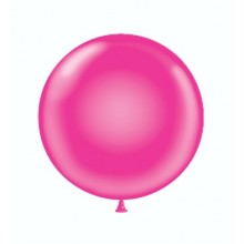 "17"" Tuf-Tex Pastel Hot Pink Decorator Balloons - 50-Pack"