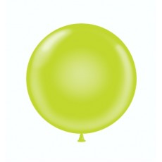 "17"" Tuf-Tex Pastel Lime Green Decorator Balloons - 50-Pack"