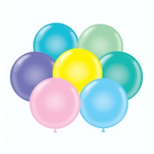 "17"" Tuf-Tex Pastel Assortment Decorator Balloons - 50-Pack"
