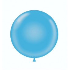 "17"" Tuf-Tex Pastel Robin's Egg Blue Decorator Balloons - 50-Pack"