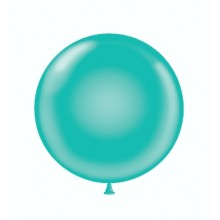 "17"" Tuf-Tex Pastel Teal Decorator Balloons - 50-Pack"