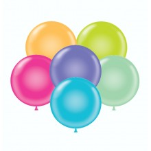"17"" Tuf-Tex Pastel Tropical Assortment Decorator Balloons - 50-Pack"