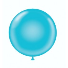 "17"" Tuf-Tex Pastel Turquoise Balloons - 50-Pack"
