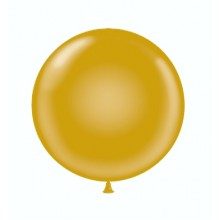 "17"" Tuf-Tex Metaltone Gold Decorator Balloons - 50-Pack"