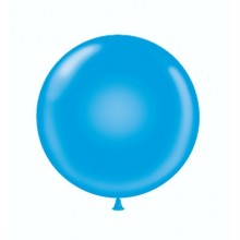 "24"" Tuf-Tex Standard Blue Decorator Balloons - 25-Pack"