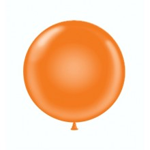 "24"" Tuf-Tex Standard Orange Decorator Balloons - 25-Pack"