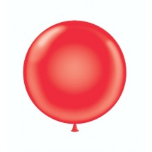 "24"" Tuf-Tex Standard Red Decorator Balloons - 25-Pack"