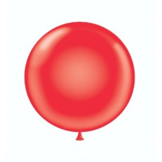 "36"" Tuf-Tex Standard Red Decorator Balloons - 10-Pack"