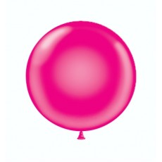 "24"" Tuf-Tex Crystal Magenta Decorator Balloons - 25-Pack"