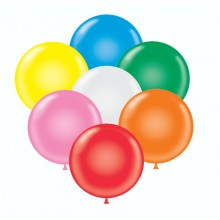 "17"" Tuf-Tex Standard Assortment (With White) Decorator Balloons - 50-Pack"