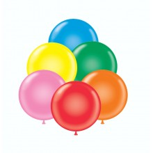 "24"" Tuf-Tex Standard Assortment Decorator Balloons - 25-Pack - OUT OF STOCK - Expected Early May"