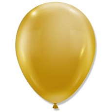 """11"""" MCR Party Style Luxe Gold Metallic Chrome Decorator Balloons - 100-Pack"""