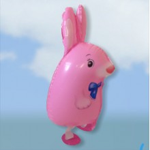 Walking-Pet Pink Rabbit Balloon