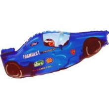 Jumbo Blue Classic Formula One Racing Car Shape Balloon