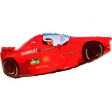 Jumbo Red Classic Formula One Racing Car Shape Balloon