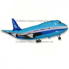 XL Jumbo Blue Plane Shape Balloon