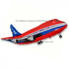 XL Jumbo Red Plane Shape Balloon