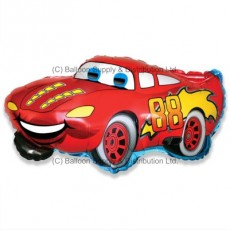 Jumbo Red Racer Car Shape Balloon