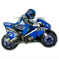 Jumbo Blue Moto Racing Motorbike Bike Shape Balloon