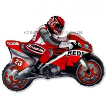 Jumbo Red Moto Racing Motorike Shape Balloon