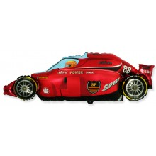 Jumbo Red Formula Racing Car Shape Balloon