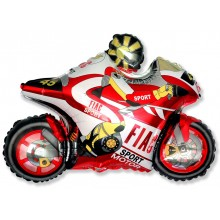 »BULK ORDER ONLY: Jumbo Red Motorbike Shape Balloon