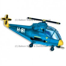 »BULK ORDER ONLY: Jumbo Blue Helicopter Shape Balloon
