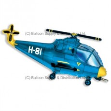 Jumbo Blue Helicopter Shape Balloon