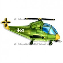 Jumbo Green Helicopter Shape Balloon