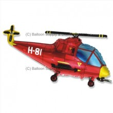 Jumbo Red Helicopter Shape Balloon