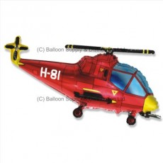 »BULK ORDER ONLY: Jumbo Red Helicopter Shape Balloon