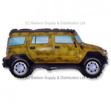 Jumbo Green Military Four Wheel Drive Shape Balloon