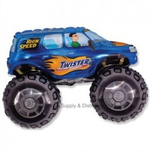 Jumbo Blue Big Wheels Monster Truck Shape Balloon